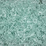 Lakeview Outdoor Designs 1/2-Inch Ice Clear Fire Glass - 1 Pound