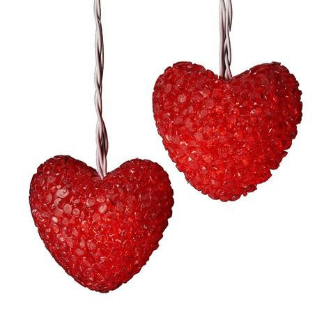 Kurt Adler UL0415 Red Heart Light Set, 10 - Heart Light Set