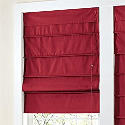 Brylanehome Studio Canvas Roman Shade (Red,48\