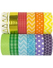 allydrew 70556 Tapes, Set of 12 Washi, Rainbow Bright