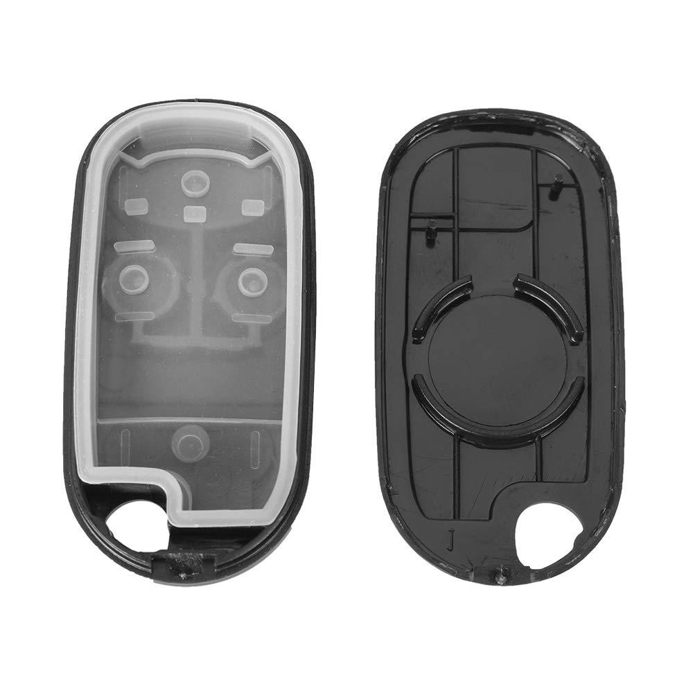 Carcasa para Llave de Mando a Distancia Compatible con Honda Civic Accord Jazz CRV Jazz RV 2 Botones de Repuesto RSFOW