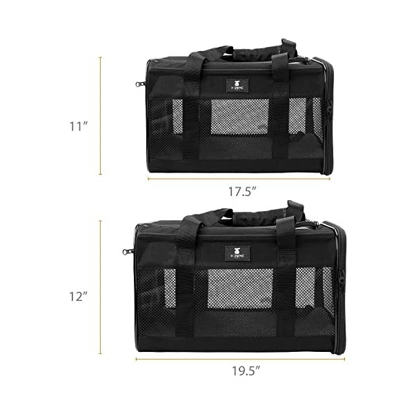 X-ZONE PET Airline Approved Soft-Sided Pet Travel Carrier for Dogs and Cats 2