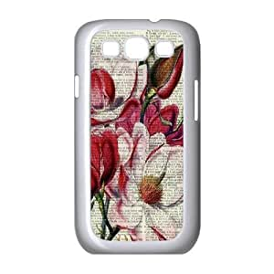 Vintage Flower Watercolor Classic Personalized Phone Case for Samsung Galaxy S3 I9300,custom cover case ygtg586105