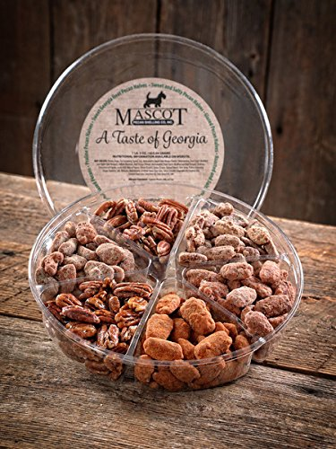 (Mascot Pecans & Nut Gifts Since 1955- A Taste of Georgia Pecans Gourmet Gift Basket LARGE- 6 Delicious Varieties in One Place!)