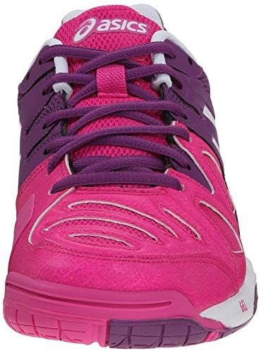 Asics Zapatillas de tenis Gel-Game 5de la mujer Pink Glow/White/Grape