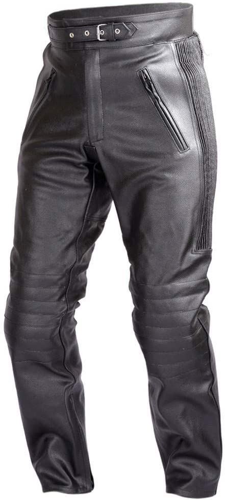WICKED Brand new STOCK Mens Limited time trial price Motorcycle Black Leather Pants CE Rated with 4