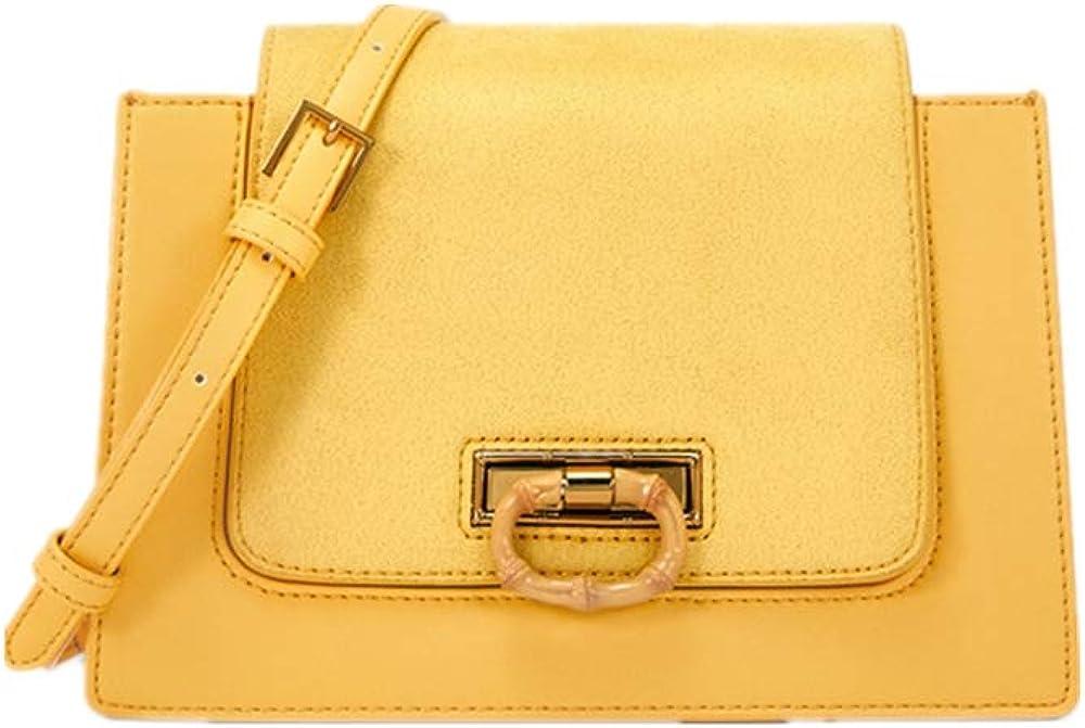 One shoulder bag vintage bamboo buckle lady flip sbefore strap shoulder bag A