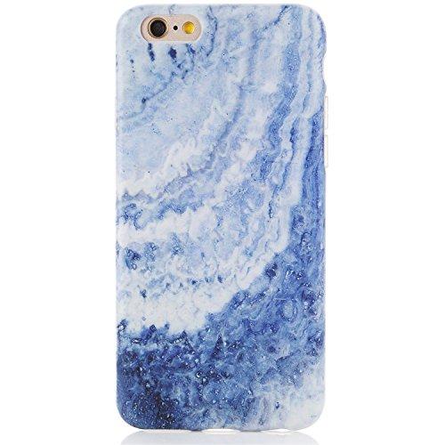 Blue Opal Granite (iPhone 6 Case,iPhone 6s Case,Marble Design iPhone 6 Phone Case,DICHEER Anti-Scratch &Fingerprint Shock Proof Thin TPU Case For iPhone 6 / 6s 4.7