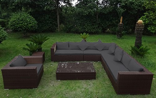 baidani rattan garten lounge eastside integrierter stauraum braun meliert grau g nstig online. Black Bedroom Furniture Sets. Home Design Ideas