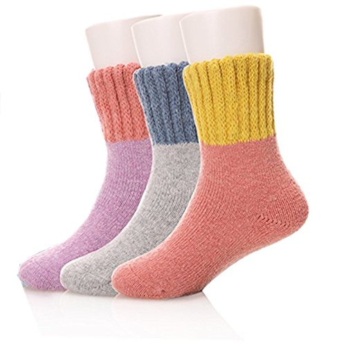 plceo 3 Pack Winter Warm Children Fashion Socks for Kids Girls Boys 3 Size Available Color Radom (3-5 Years Old)