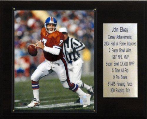 NFL John Elway Denver Broncos Career Stat Plaque