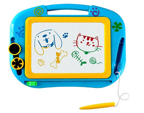 magnet drawing board with stamps - 9