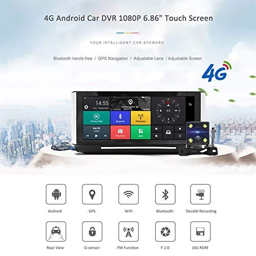 Four Car Camera DVR 4g WiFi Bluetooth GPS Dash Cam Desk Secretary FHD 1080p Dashcam Dual Video Recorder - Secretary Desk Double