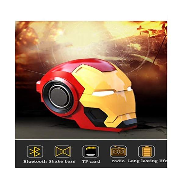 Mini Haut Parleurmini Iron Man Haut-Parleur sans Fil Puissant Enceintes Portables Ordinateur Cadeau Novateur Pratique Radio Musique 5