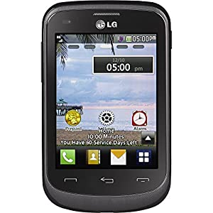 LG TracFone 306G No Contract, 2.0 megapixel Camera, 3.2-Inch screen, Black, Retail Packaging