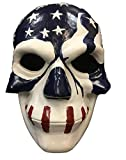 The Purge Mask Movie Election Year 3 'USA Flag' Deluxe Fibreglass Mask - Universal Size W/ Adjustable Buckle Strap