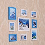 ZYANZ Photo Wall, White-blue Pine Jiugongge Frame