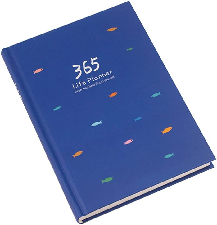 Cuaderno planificador diario creativo tapa dura color verde 365 d/ías anuales