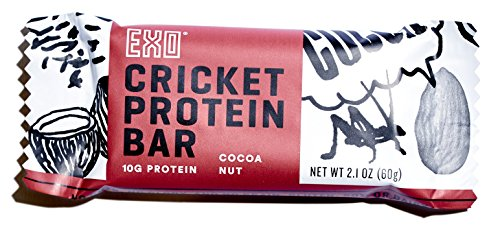 Exo Cricket Flour Protein Bars, Cocoa Nut, 12 Count