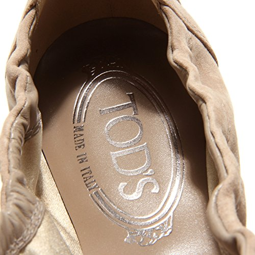 donna ballerine laccetto women Beige nappine shoes 8040L TOD'S dee scarpe wpF5xqZInE
