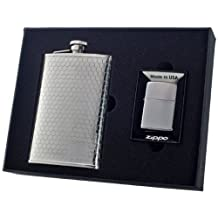 Visol Hive Flask and Zippo Lighter Gift Set, 8-Ounce by Visol