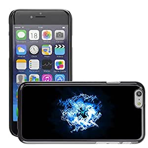 """Hot Style Cell Phone PC Hard Case Cover // M00044472 artistic abstract blue light // Apple iPhone 6 4.7"""""""