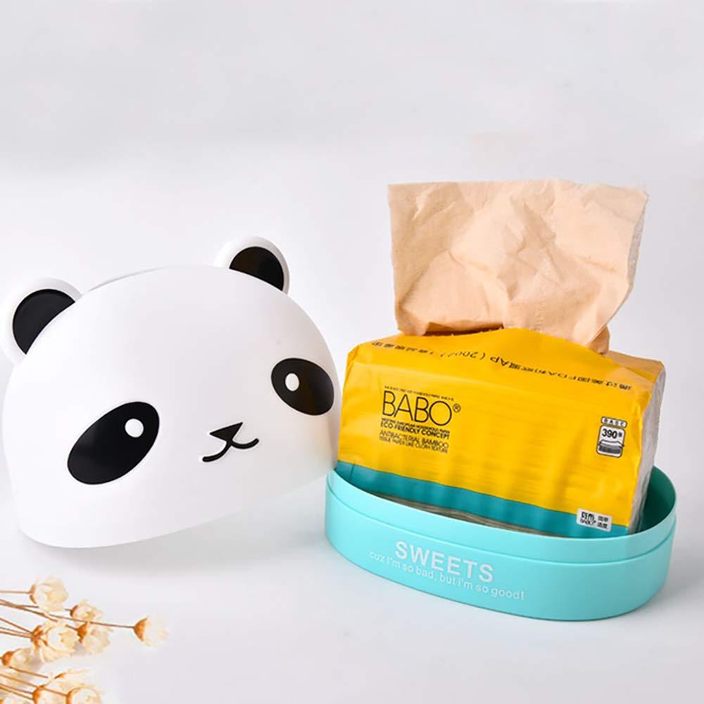 CAheadY Sch/öne Panda Kopf Tischplatte Anti-Staub Gewebe Aufbewahrungsbox Container Wohnkultur Black