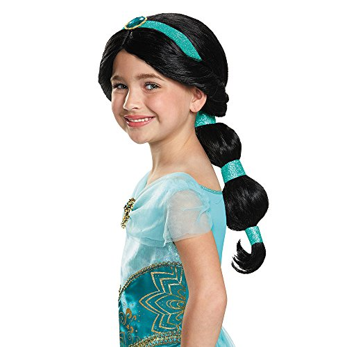 [Disguise Jasmine Disney Princess Aladdin Wig, One Size Child, One Color] (Halloween Jasmine Costume)