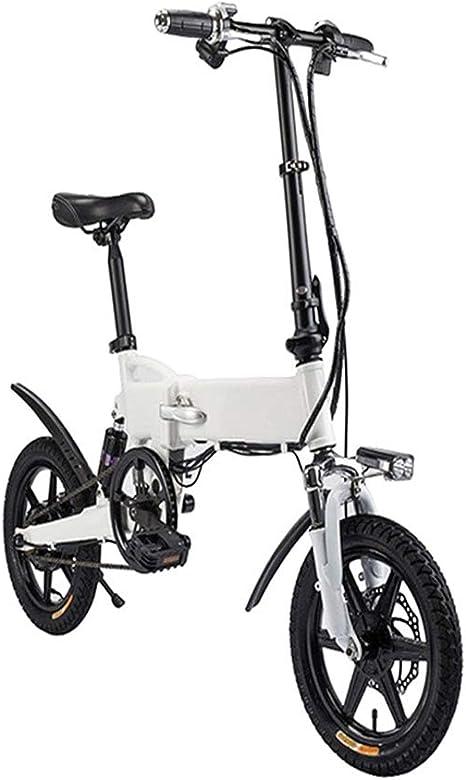 TANCEQI Bicicleta Eléctrica Plegables, Bici Electricas Adulto con Pedal para Adultos Y Adolescentes, Bicicleta Eléctrica De 16