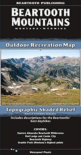 Beartooth Mountains, Montana/Wyoming Outdoor Recreation Map