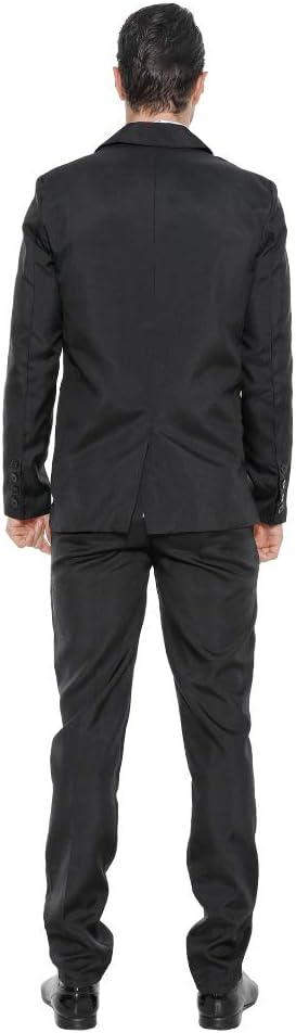 Include Giacca Pantaloni Cravatta EraSpooky Tinta Unita Completo Blazer Uomo Tuta Festa Abito