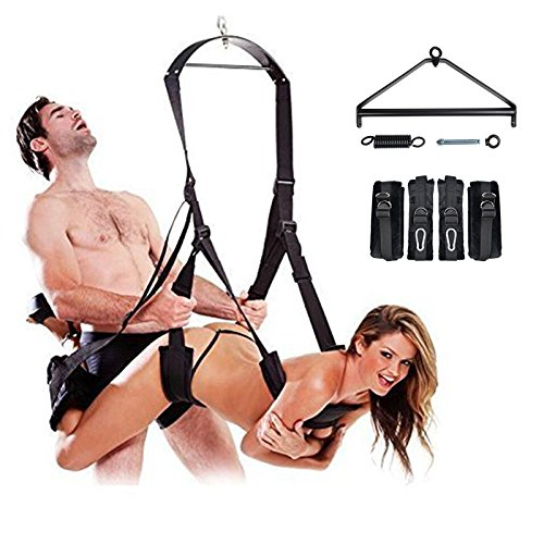 3rd Generation Sex Swing, Srider Luxury Heavy Duty Indoor Adult Swing Holds Weight up to 800 lbs, Bondage Love Swing Includes with Steel Triangle Frame and Spring for Couples by Srider