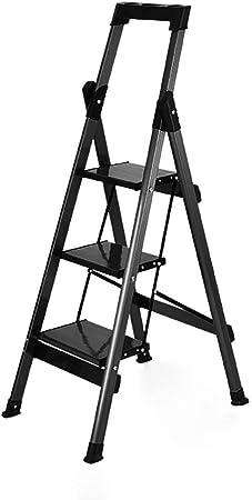 B-fengliu Taburete de Aluminio Ultraligero/Escalera de 3 escalones Taburete portátil Plegable con Capacidad de 330 LB y Patas Antideslizantes - Ligero y Resistente / 19.5x14.7x47.3 Pulgadas: Amazon.es: Hogar