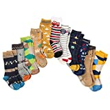 7 Pairs Toddler Boy Non Skid Socks Cotton Thick