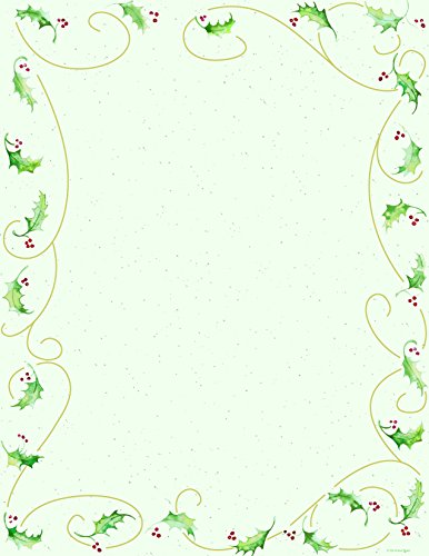 Holiday Stationery (Holly Bunch Holiday Stationery - 80 Sheets)