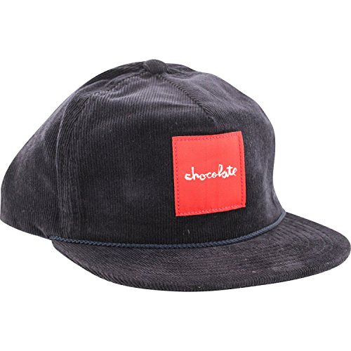 Chocolate Red Square Cord Skate HAT - Adjustable Navy (Chocolate Skate compare prices)
