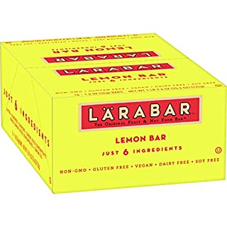 Larabar Fruit & Nut Bar, Lemon, Gluten Free, Vegan, 1.6 oz Bars 16 ct