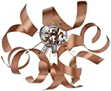 Artcraft Lighting Bel Air Flush Mount, Brushed Copper/Chrome