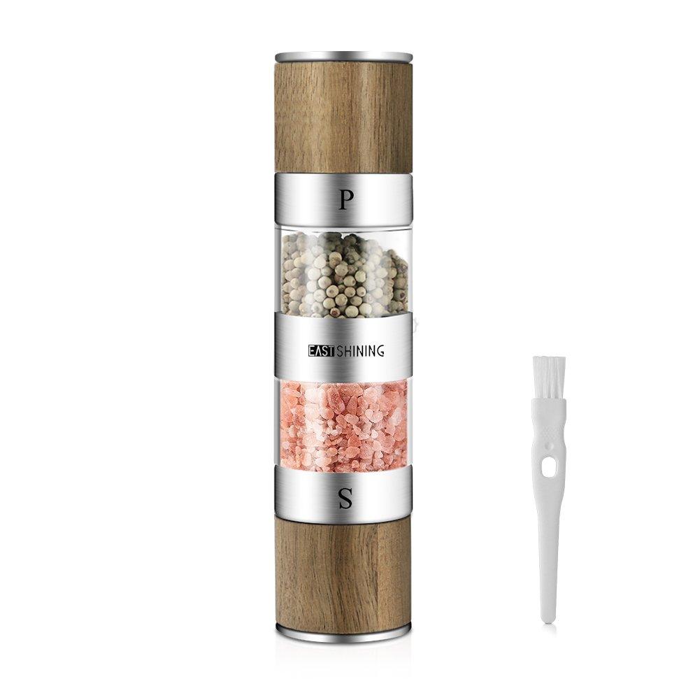 Eastshining Salz und Pfeffermühle in einem Design aus Edelstahl Holz ...