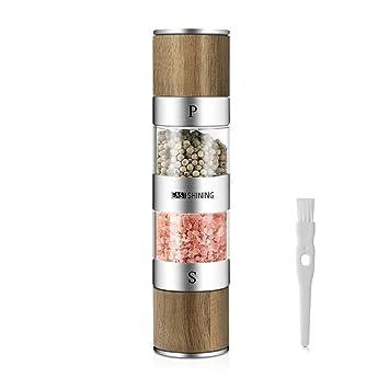 Eastshining Salz und Pfeffermühle in einem Design aus Edelstahl und ...