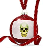 Christmas Decoration Low Poly zoo Animals Green Skull Ornament