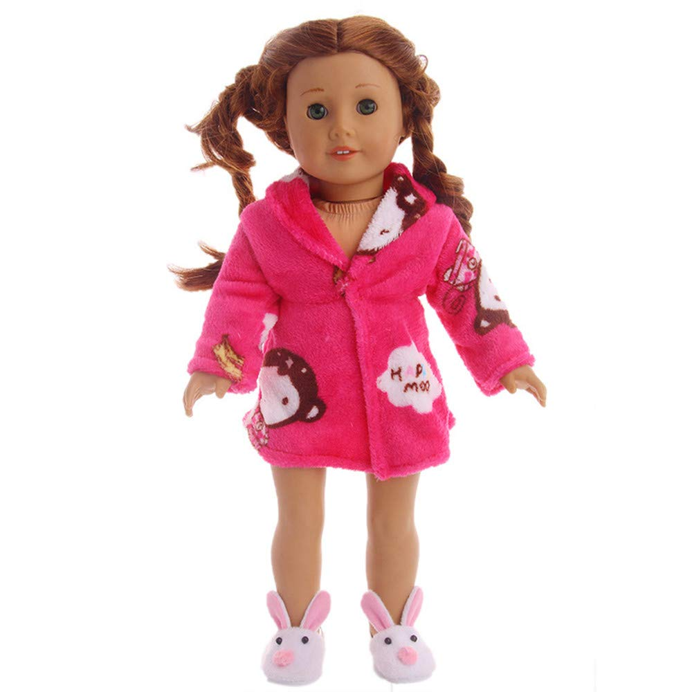 Gbell 18 Inch Doll Outfits Winter Sweater Outfits 18 inch American Girl Our Generation Doll Clothes Accessories (Orange)