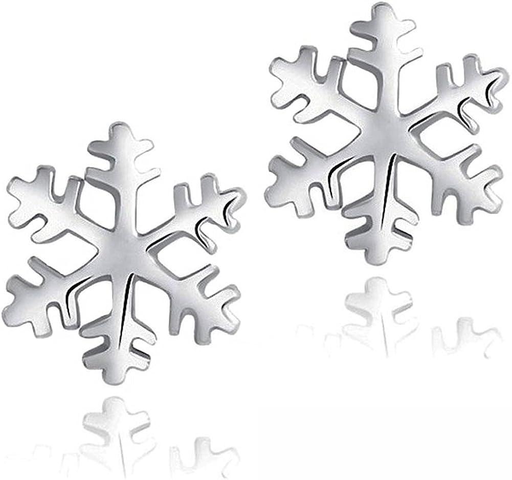 Regalo del perno prisionero del día de San Valentín Celebrity Jewellery S925 plata esterlina del copo de nieve congelada Edelweiss
