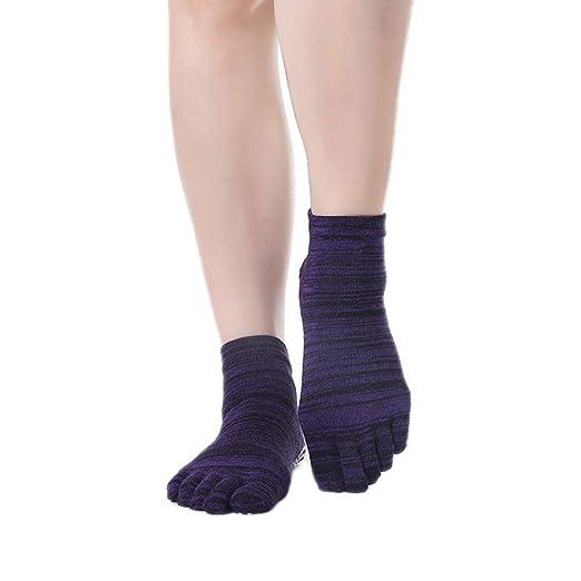 CAOLATOR.Calcetines de Cinco Dedos Antideslizantes para Yoga ...