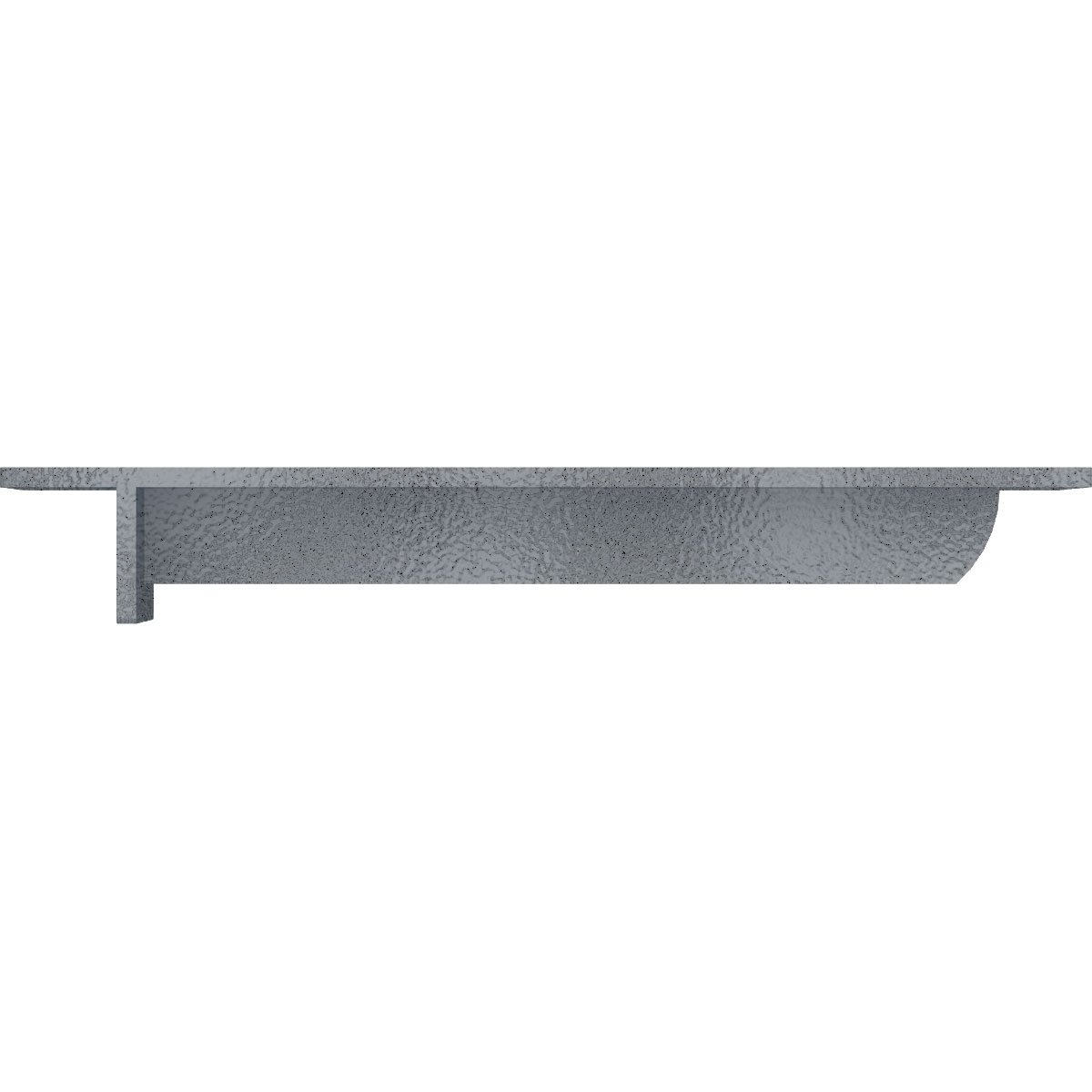 Ekena Millwork BKTM03X10X02HECRS  3-Inch W x 10-Inch D x 2-Inch H Heaton Hidden Support Bracket with 6-Inch Support Depth Steel