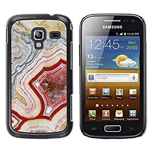 Be Good Phone Accessory // Dura Cáscara cubierta Protectora Caso Carcasa Funda de Protección para Samsung Galaxy Ace 2 I8160 Ace II X S7560M // Pattern Geology Rock Red Nature