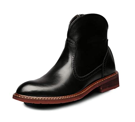 HYLFF Zapatos de Hombre Brogues Botas de Trabajo con Punta