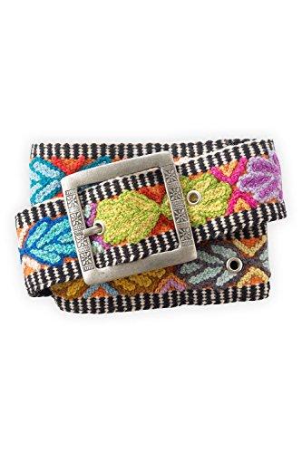Tey-Art Mesa Hand Embroidered Fair Trade Wool Belt (M 28-37)
