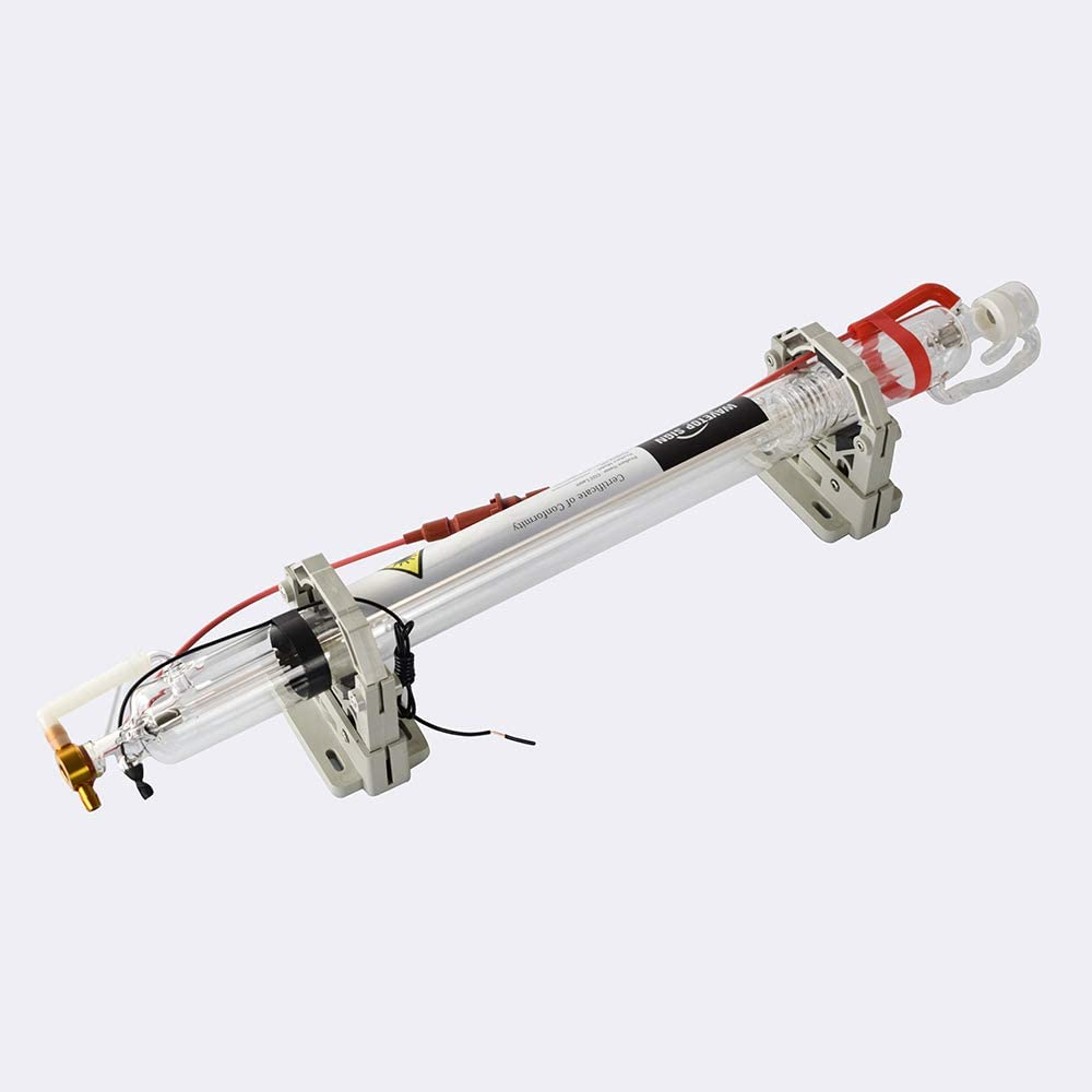 TEN-HIGH AC110V Glass Laser Tube 60W CO2 1000mm Length 50mm Dia for 400x300mm 60W Laser Engraving and Cutting Machine