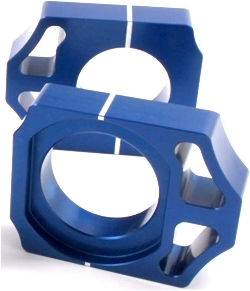 Blue for 02-08 Honda CRF450R Works Connection Elite Axle Blocks